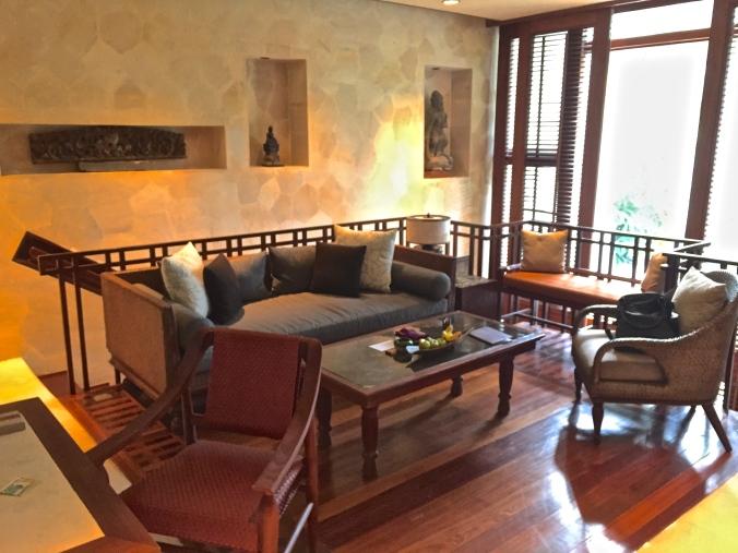 Upper living area
